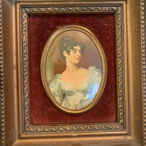 Vintage Cameo Creation Victorian Art Portrait